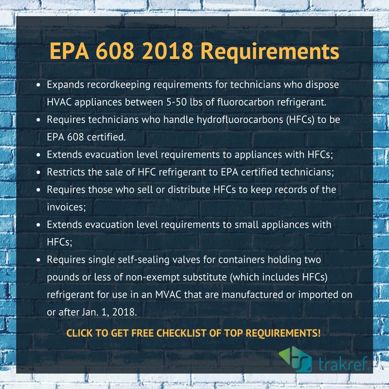 jan 2018 compliance date new refrigerant regulations